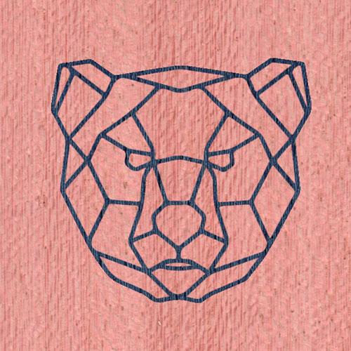 Синий | Розовый фон
