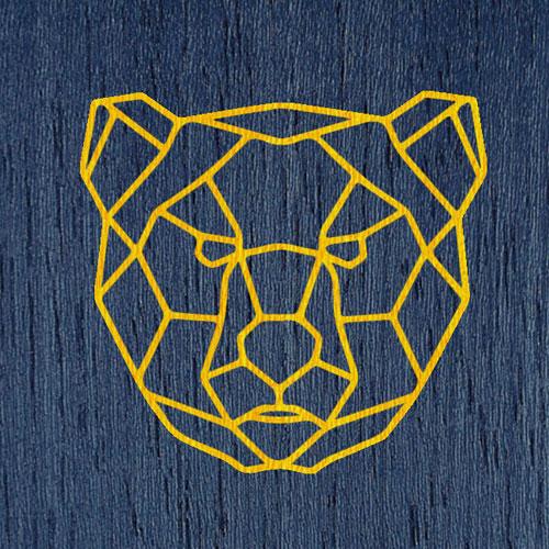 Желтый | Синий фон