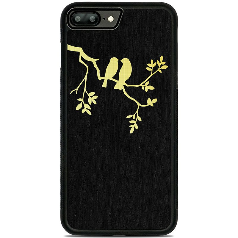 "Чехол ""Deep"" - Birds | Oak (7 Plus/8 Plus)"