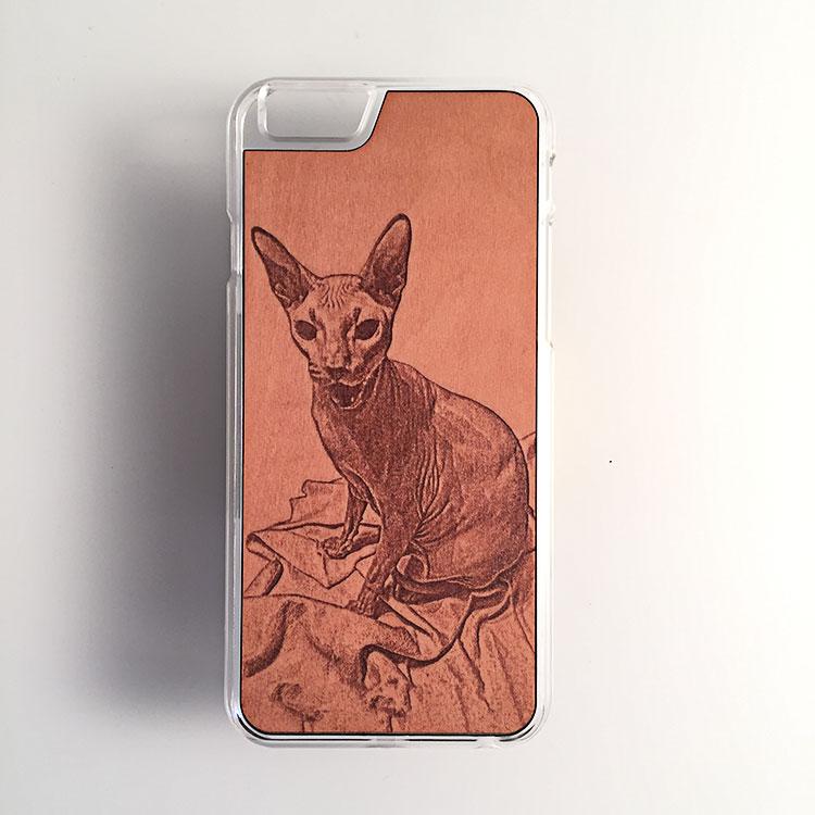 """Чехол серии """"Soft"""" на iPhone 6/6s с гравировкой на груше"""