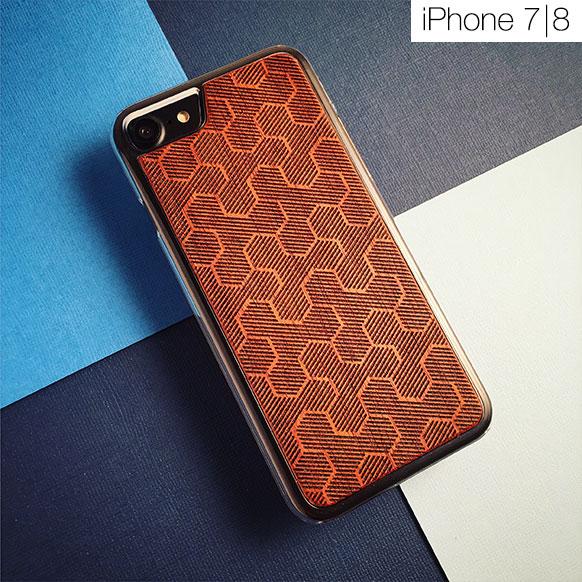 Чехлы c деревянной вставкой для iPhone 7/8