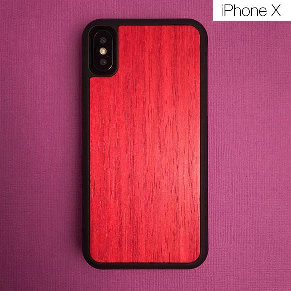 Чехлы c деревянной вставкой для iPhone X