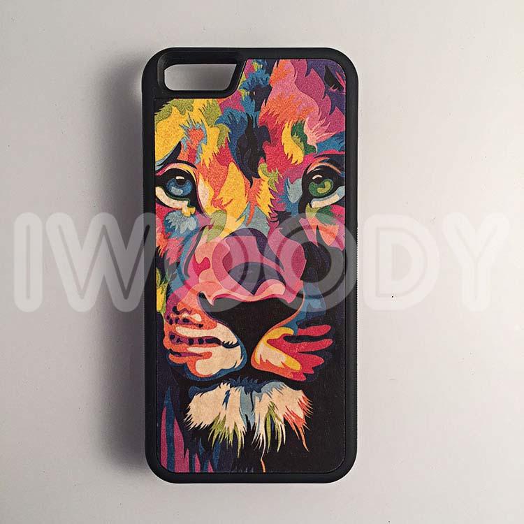 """Чехол серии """"Deep"""" на iPhone 6/6s с цветной печатью на дереве клен"""