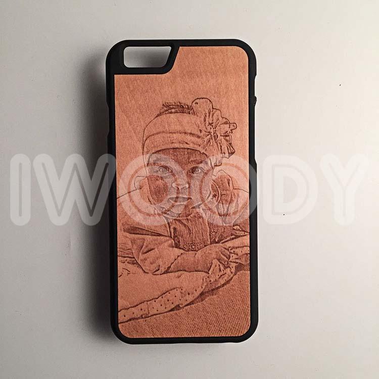 "Чехол серии ""Touch"" на iPhone 6/6s с гравировкой фотографии на груше"