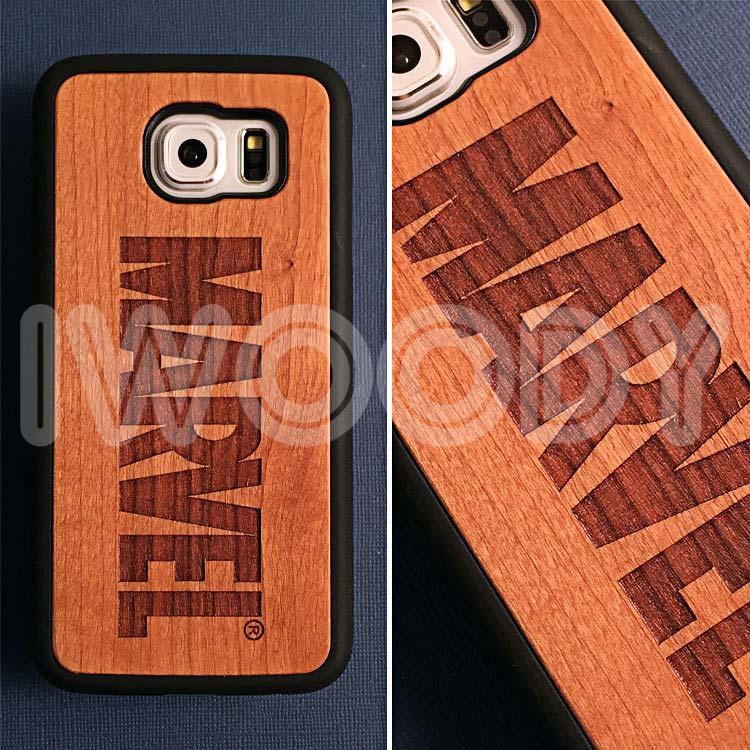 "Чехол серии ""Deep"" на Samsung Galaxy S6 с гравировкой на вишне 1.5мм"