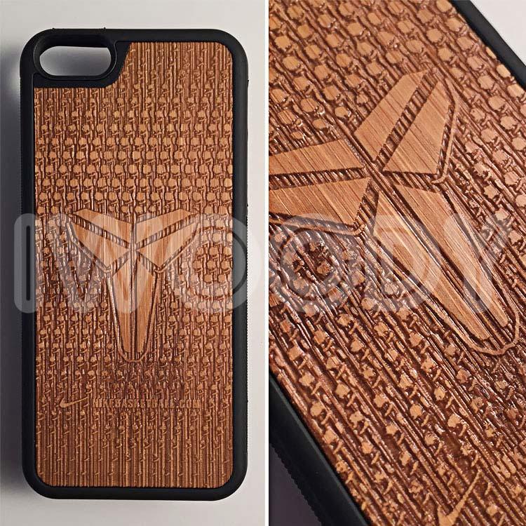 "Чехол серии ""Deep"" на iPhone 5/5s и SE с гравировкой на бамбуке"