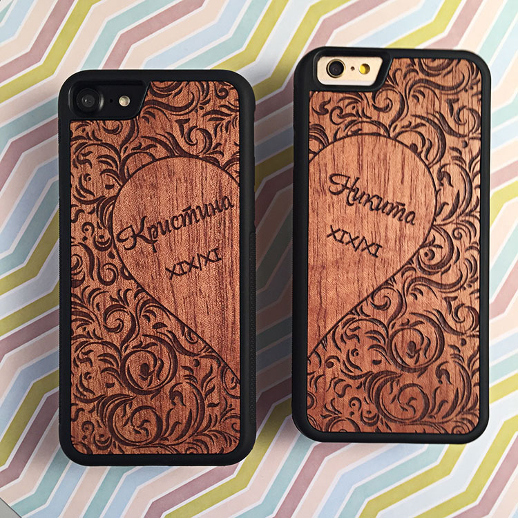 """Чехлы серии """"Deep"""" на iPhone 7 и 6/6s с гравировкой на макоре"""