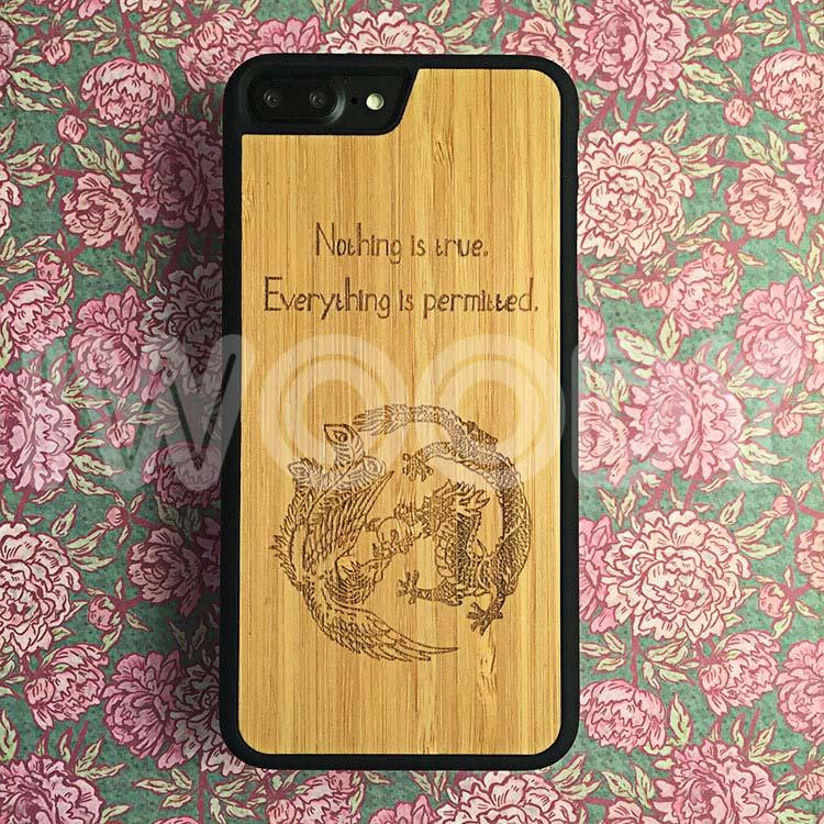 """Чехол серии """"Touch"""" на iPhone 7 Plus с гравировкой на бамбуке"""