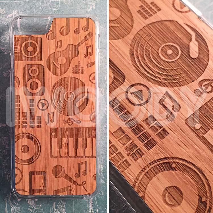 """Чехол серии """"Soft"""" на iPhone 6/6s с гравировкой на бамбуке"""