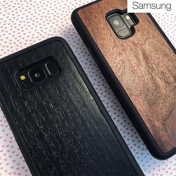 Чехлы c деревянной вставкой для Samsung S9/S8/S7/S6