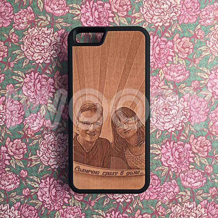 """Чехол серии """"Deep"""" на iPhone 6/6s с гравировкой фотографии на груше"""