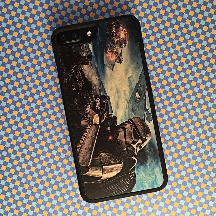 """Чехол серии """"Touch"""" на iPhone 7 Plus с цветной печатью на дереве клен"""