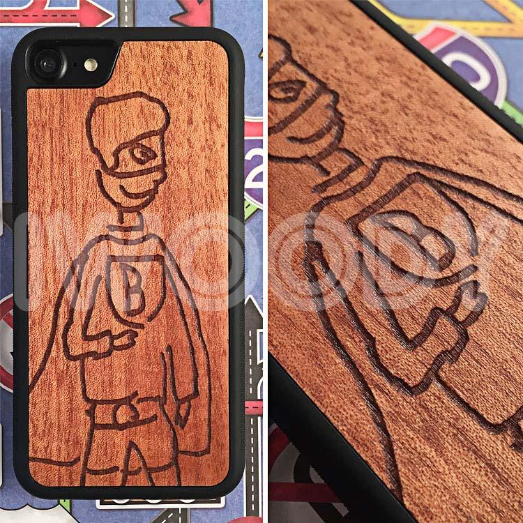 "Чехол серии ""Deep"" на iPhone 5/5s и SE с гравировкой на макоре"