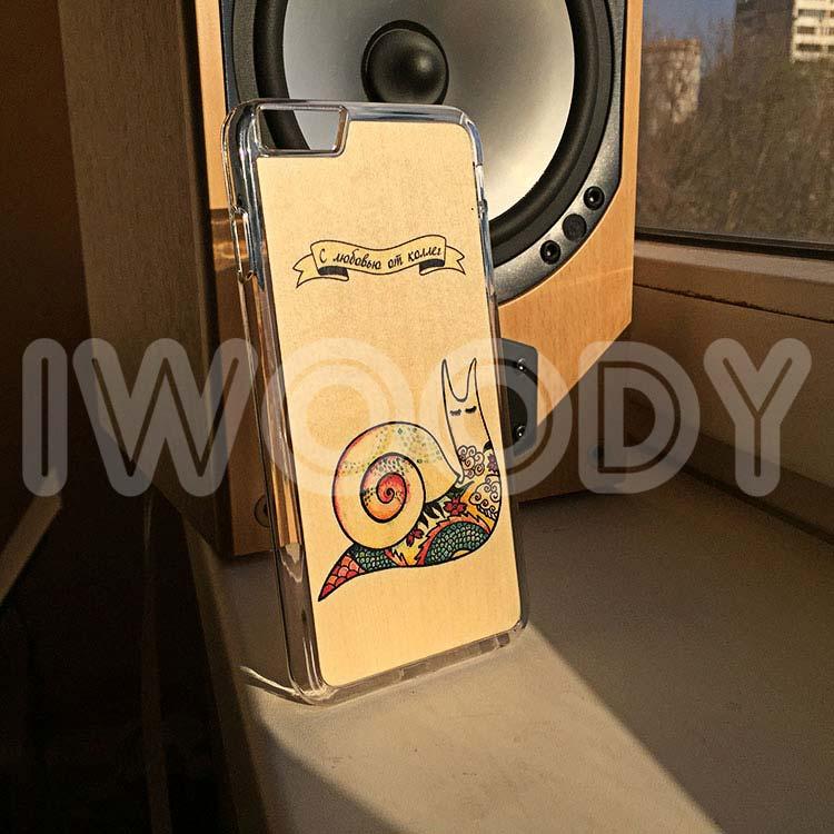 """Чехол серии """"Soft"""" на iPhone 6 Plus с цветной печатью на клене"""