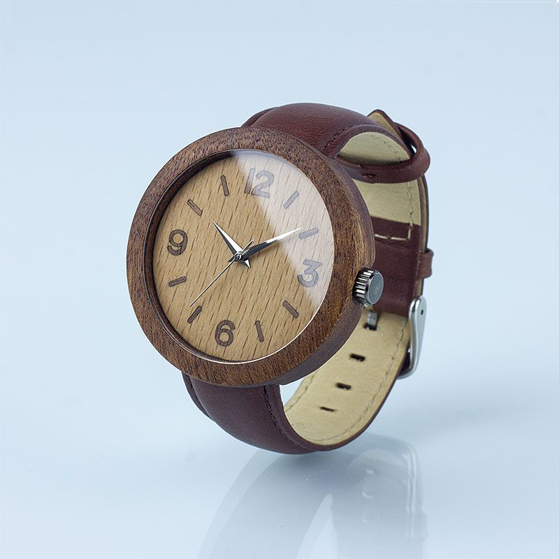 """Деревянные часы """"Sapele"""""""