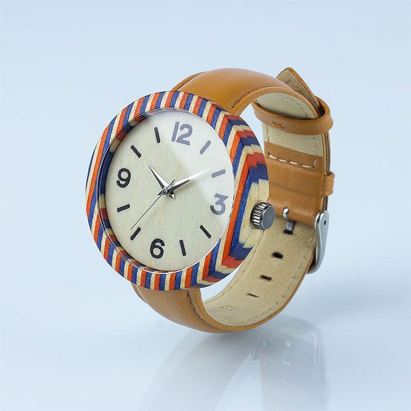 """Деревянные часы """"Grekko"""""""