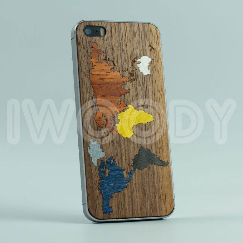 Деревянная накладка World map | Nut