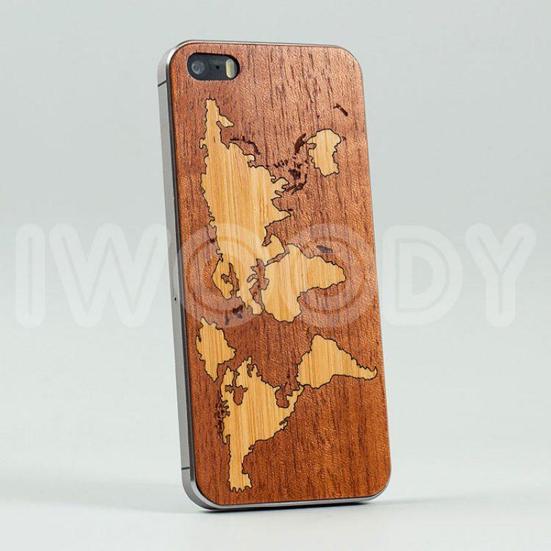 Деревянная накладка World map | Makore